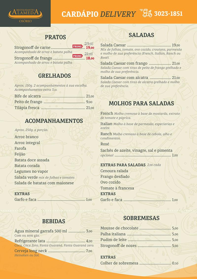 Restaurante Alameda Grill - Delivery Curitiba